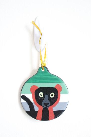 Red-ruffed Lemur Ornament (Porcelain)