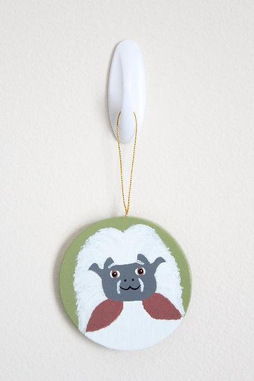 Cotton-top Tamarin Ornament (Paper Mache)