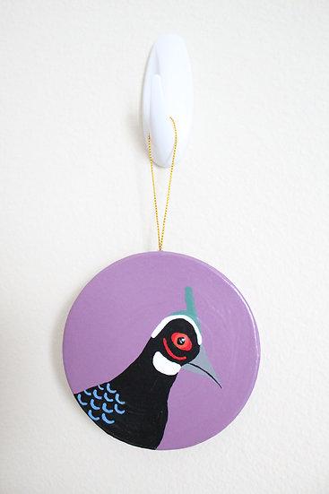Palawan Peacock Pheasant Ornament (Paper Mache)