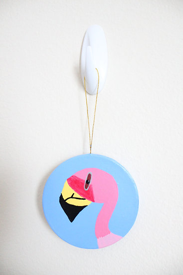 Puna Flamingo Ornament (Paper Mache)