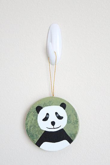 Giant Panda Ornament (Paper Mache)