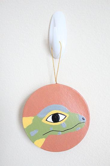 Komodo Dragon Ornament (Paper Mache)