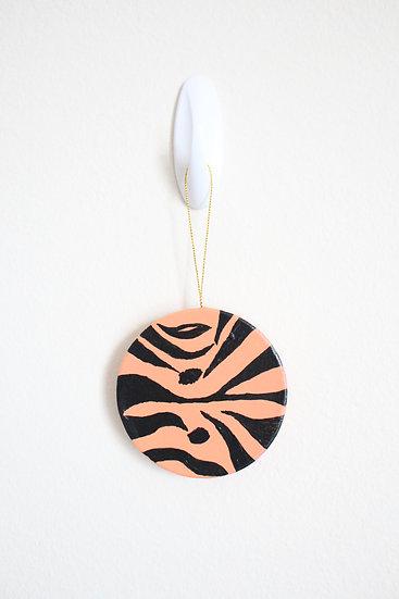 Tiger Print Ornament (Paper Mache)