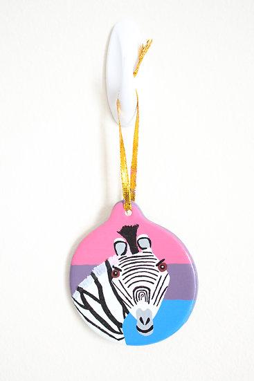 Grevy's Zebra Ornament (Porcelain)