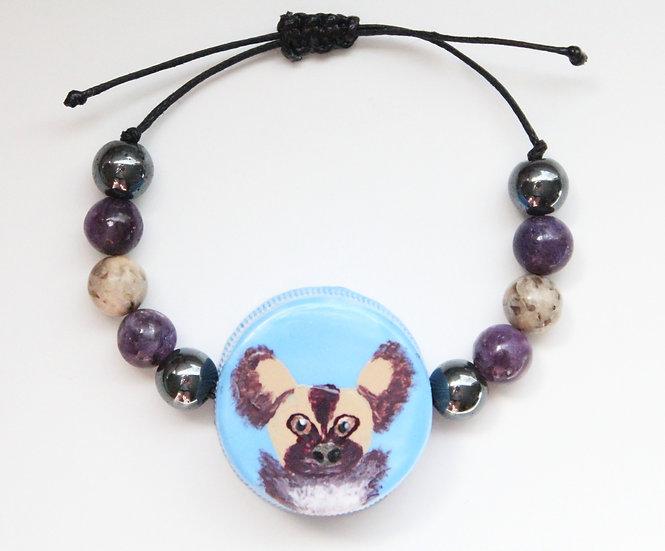 Painted Dog Bracelet I
