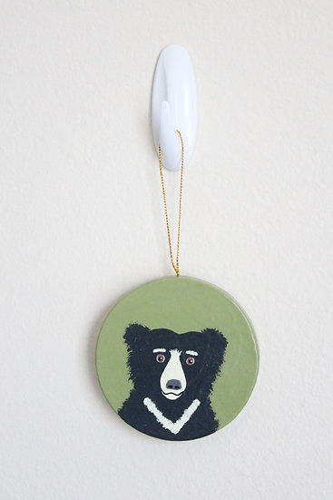 Sloth Bear Ornament (Paper Mache)