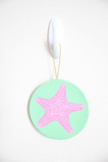 Pink Starfish Ornament (Paper Mache)