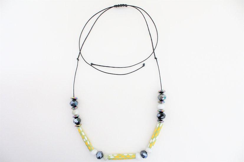 Emerald Tree Boa Print Necklace IV