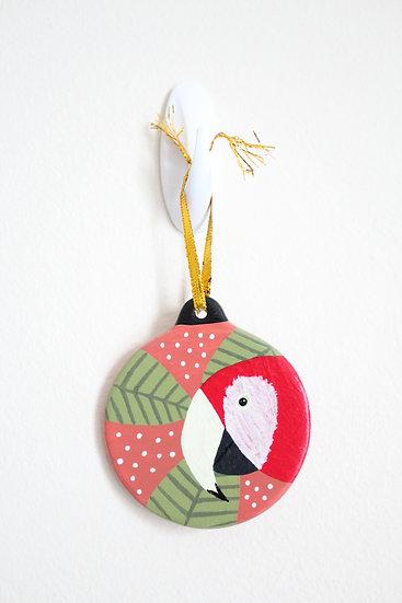 Scarlet Macaw Ornament (Porcelain)
