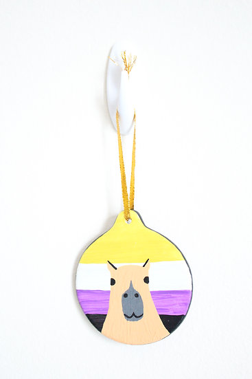 Capybara Ornament (Porcelain)