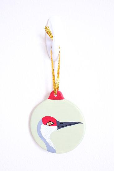 Sandhill Crane Ornament (Porcelain)