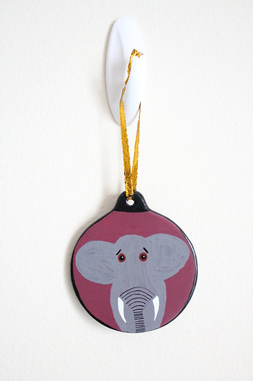 African Elephant Ornament (Porcelain)