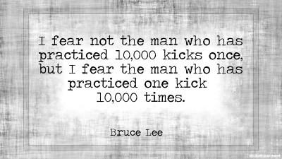 One Kick 10,000 Times