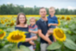 Family Sunflower Photography