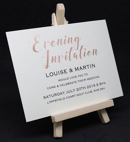Foiled Classic - Evening Invitation - White - A6