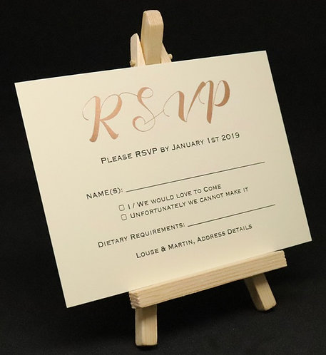 Foiled Classic - RSVP Card - Ivory - A6