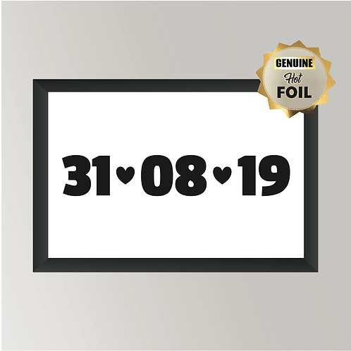 Wall Art - Special Date - Hot Foiled (Unframed)