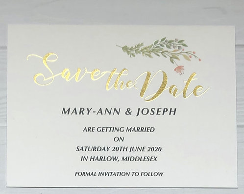Save The Date - Forest Floral