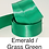 Thumbnail: Green Ribbons - 15mm - Personalised - Satin Double-Faced