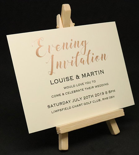 Foiled Classic - Evening Invitation - Ivory - A6