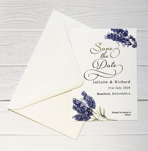 Save The Date - Lush Lavender