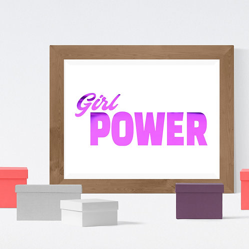 Wall Art - Girl Power - Hot Foiled (Unframed)