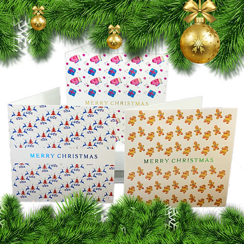 Luxury Christmas Cards - Foil Stamped - Set of 6