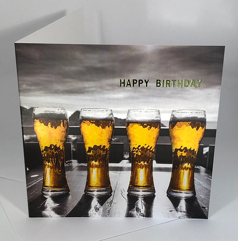 Birthday Card - Beer - Happy Hour Collection