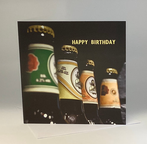 Birthday Card - Beer Bottles - ColourSplash Collection