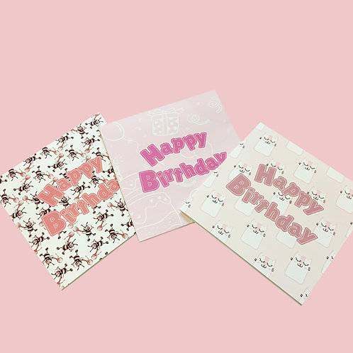 Birthday Cards - Buzzy Bee Collection - Set of 3