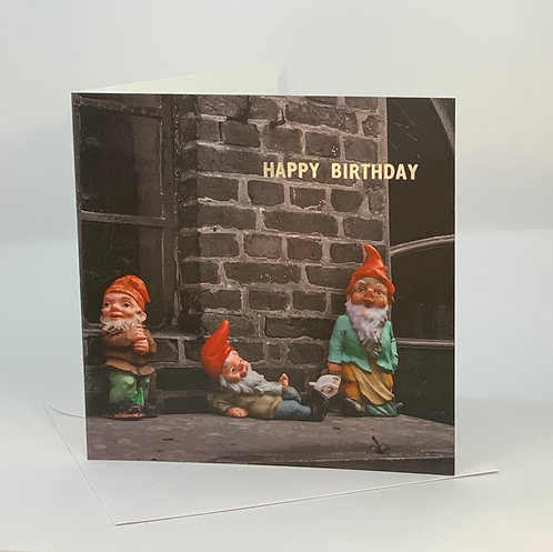 Birthday Card - Chilled Gnomes - ColourSplash Collection