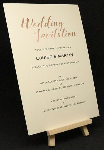 Foiled Classic - Wedding Invitation - Ivory - A5