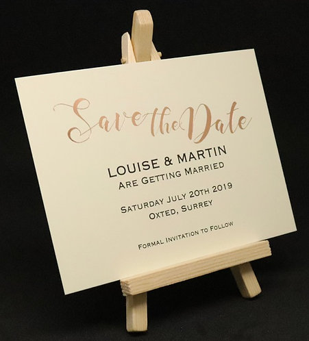 Foiled Classic - Save The Date Card - Ivory - A6