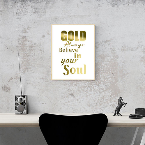 Wall Art - Gold Soul - Hot Foiled (Unframed)