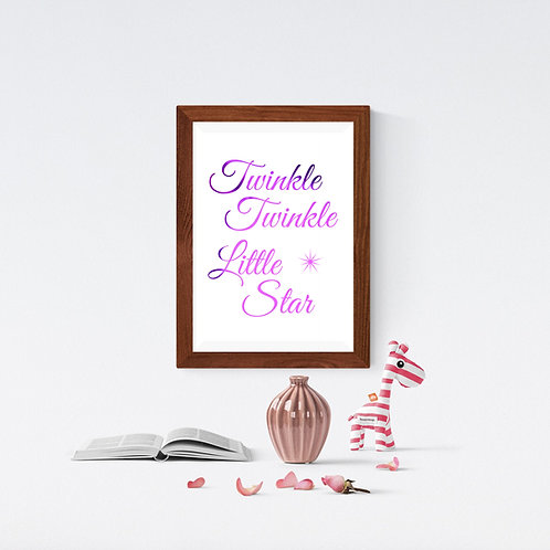 Wall Art - Twinkle Twinkle Little Star - Hot Foiled (Unframed)
