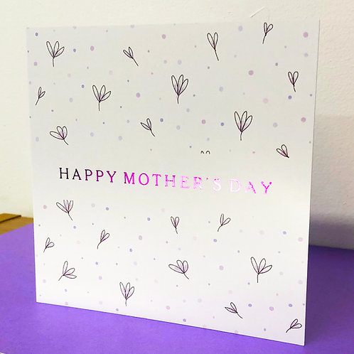Luxury Mother's Day Card - Pastel Flowers - Hot Foiled