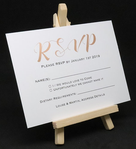 Foiled Classic - RSVP Card - White - A6