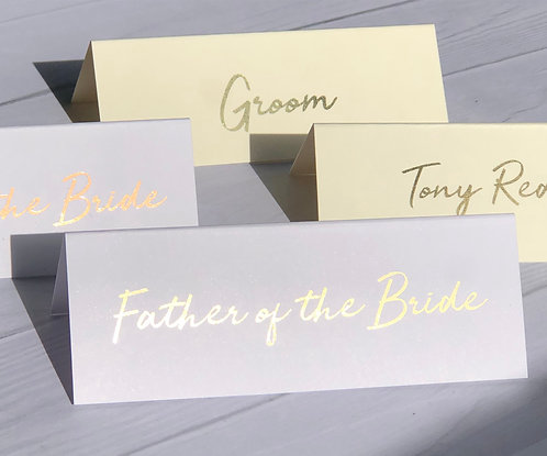 Wedding Place Cards - Personalised