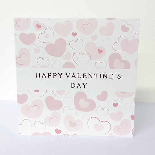 Luxury Valentine Card - Pastel Hearts - Hot Foiled
