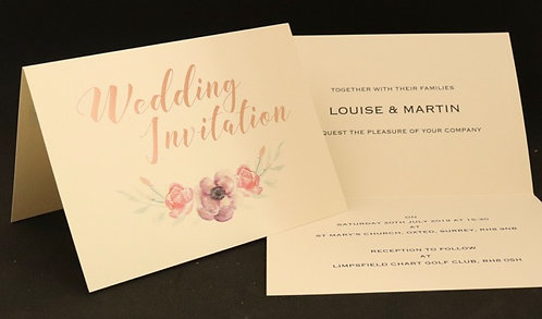 Foiled Classic - Wedding Invitation - Ivory - A5 Folded