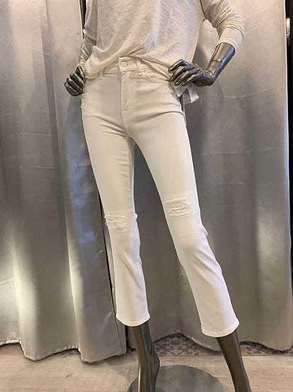 Jean Straight Crop White 7FAM