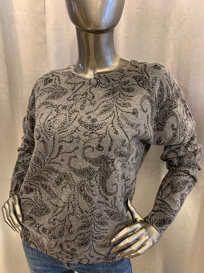 Pull Feuille Grey REPEAT Cashmere