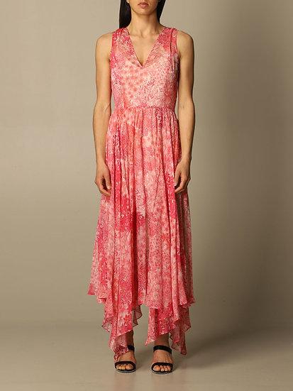 Robe Fleuri Rose TWINSET