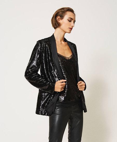 Veste Smoking sequins Noir