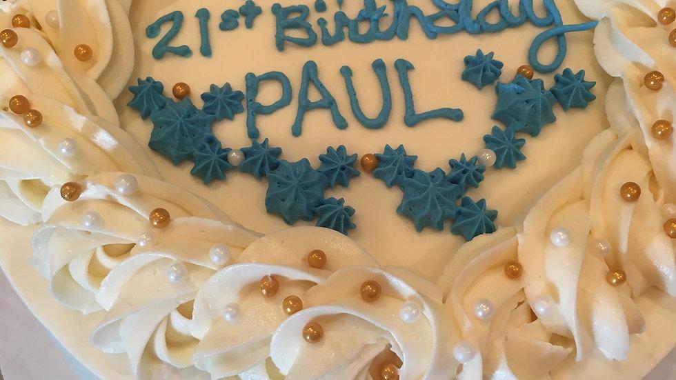 8 Inch 3 Layer Cake