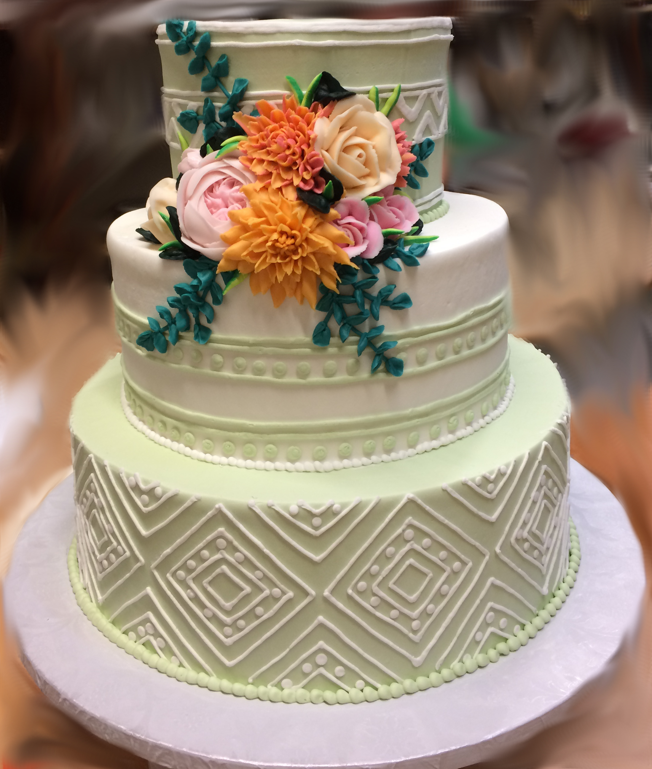 Green cake Southwestern Design