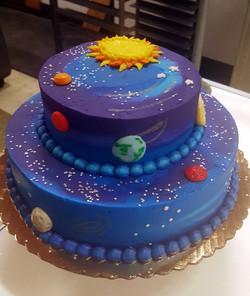 2 Tier Galaxy cake 45