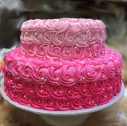 Ombre Rosette Cake 33