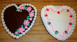 Decorated Heart Cakes 11