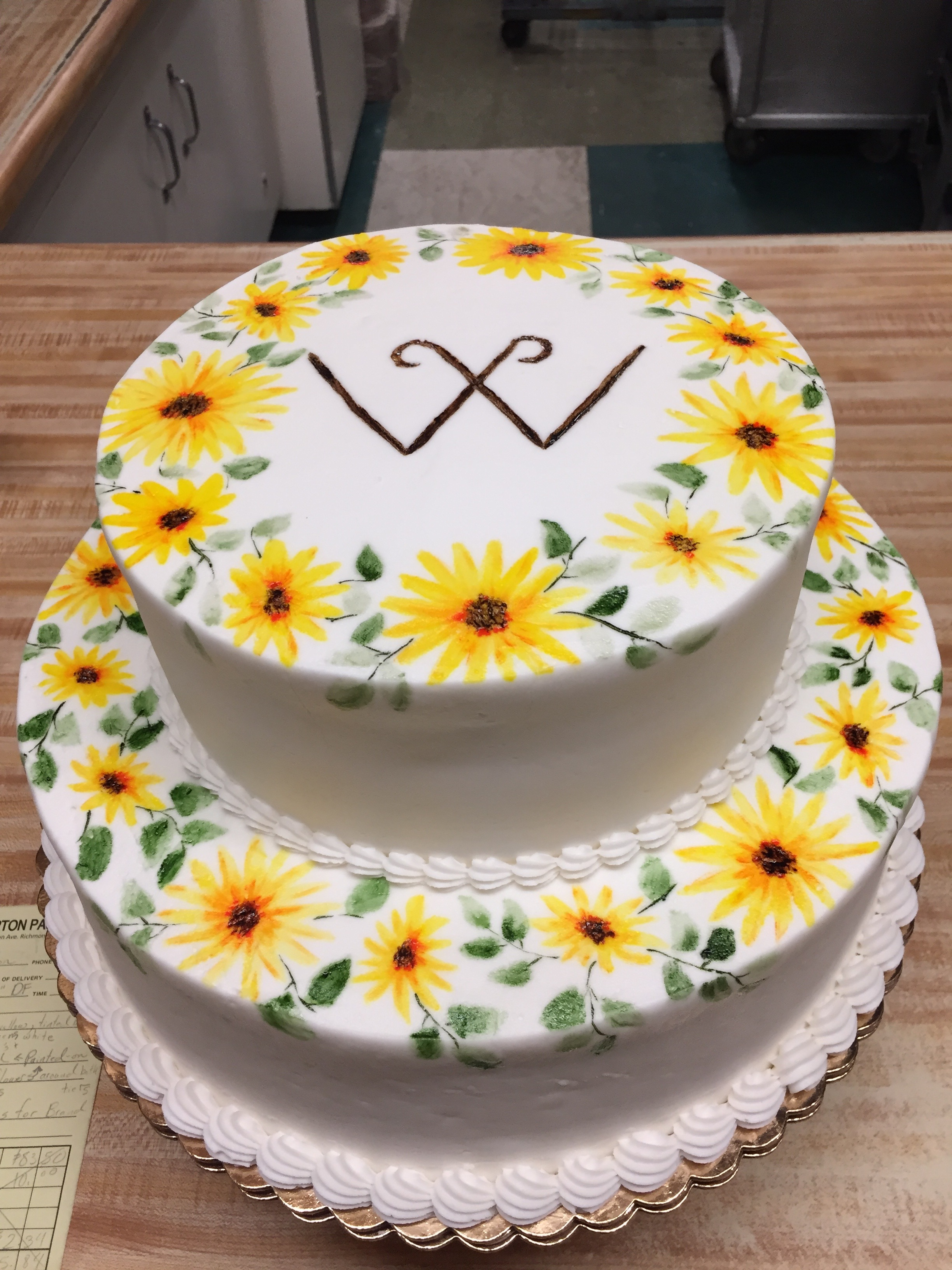Painted Sunflower Cake 12